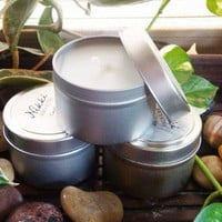BARTLETT PEAR Candle Tin 4oz by nikkicandles on Etsy