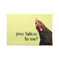 Funny Attitude Chicken Place Mats