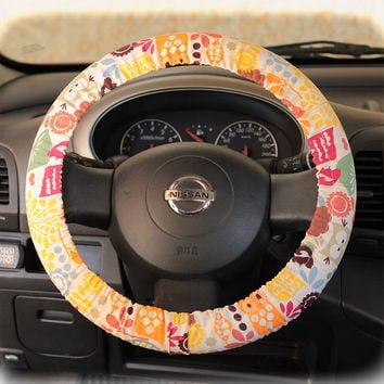 by (CoverWheel) Steering wheel cover for wheel car accessories Funky Owl Wheel cover