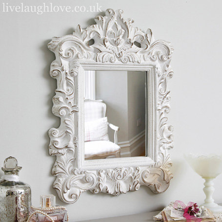 french style mirror shabby chic mirror from live laugh love. Black Bedroom Furniture Sets. Home Design Ideas