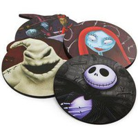 Nightmare Before Xmas Wooden Coaster Set