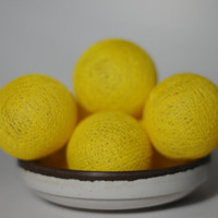 50 yellow reggae cotton balls home party decoration display window wedding decor home decor