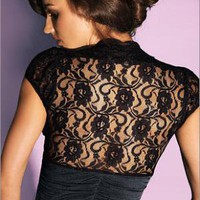 Lace Back Shrug Top PLUS