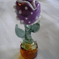 Purple Pirahna Plant Pipe by CavemanGlass on Etsy