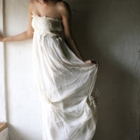 Ivory Silk Chiffon Wedding dress  Custom for you in by larimeloom