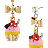 BetseyJohnson.com - PARIS CUPCAKE DROP EARRING PINK