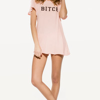 BITCH HIPPY CREW at Wildfox Couture in  - DIRTY BLACK, POODLE PINK
