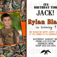 Its Birthday Time Jack Camouflage Hunting Duck Dynasty Inspired Boy Invitation - Printable