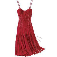 Scarlet Lace-Up Dress