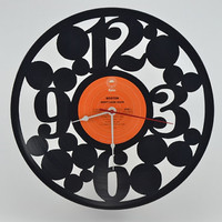 Vinyl Record Clock (artist is Boston)