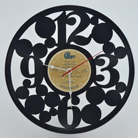 Music Art Unique Handmade Vinyl Record Clock (artist is Chicago)