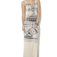 Sublimated Aztec Tank Maxi Dress | Shop Just Arrived at Wet Seal