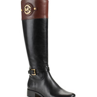MICHAEL Michael Kors  Stockard Two-Tone Leather Riding Boot