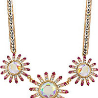 BetseyJohnson.com - PARIS FLOWER NECKLACE PINK