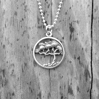 Tree of Life Necklace, Sterling Silver