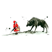 Machine Gun Red Riding Hood Art Block