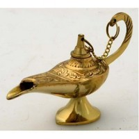 "5"" Brass Aladdin Genie Lamps: Incense Burners:Amazon:Home & Kitchen"