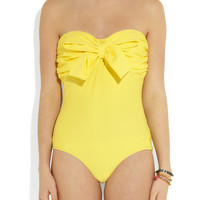 Miu Miu Bow Embellished Canary One Piece