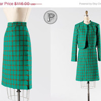 25% off SALE // 1960s dress suit medium large / 60s mod skirt and jacket set : Ides of March