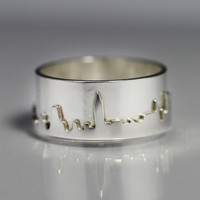 New York City Skyline Ring (Size 4) Sterling Silver