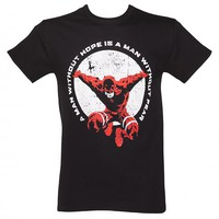 Men's Black Marvel Man Without Fear Daredevil T-Shirt : TruffleShuffle.com