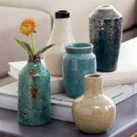 CB2 - glazed mini vases set of five