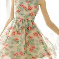 Fresh floral chiffon dress from Moonlightgirl