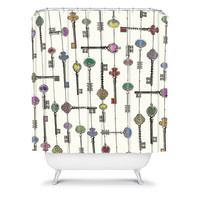 DENY Designs Home Accessories | Belle13 Love Is The Key Shower Curtain