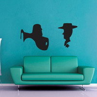 Buzz and Woody Silhoutte - Wall Vinyl - Medium