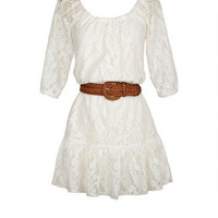 Allover Lace Belted