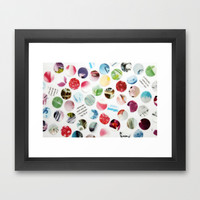 Collage Dots © Framed Art Print by JUSTART