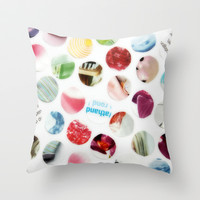 Collage Dots © Throw Pillow by JUSTART