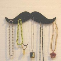 MUSTACHE  black wooden NECKLACE rack holder 12 by LangtonStudio