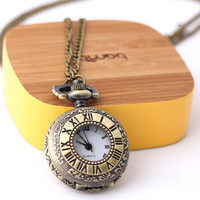 locket clock necklace in brass by bythecoco on Etsy