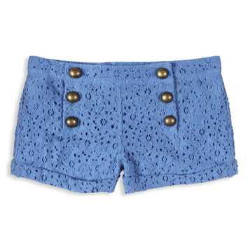 Eyelet Matelot Shorts | FOREVER21 girls - 2000036243