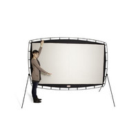 "Outdoor Entertainment Gear 115"" Big Movie Projection Screen—Buy Now!"