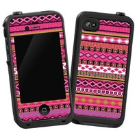 "Pink Geometric Tribal ""Protective Decal Skin"" for Lifeproof iPhone 4/4s Case:Amazon:Cell Phones & Accessories"