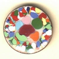 Enamel on copper penny button...studio by  H. Lowenstein 1970's .BUTTON