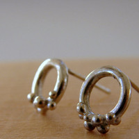 Dots Sterling Silver Stud Earrings by Nafsika on Etsy