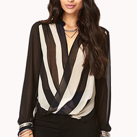 Striped Surplice Top | FOREVER 21 - 2000092134
