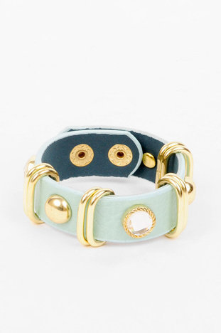 Rocks and Studs Bracelet in Mint :: tobi