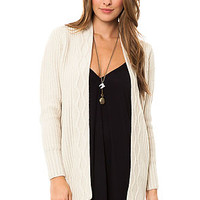 BB Dakota Cozy Sunday Cardigan in Oatmeal