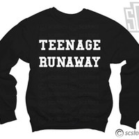Teenage Runaway Sweatshirt x Jumper UNISEX - One Direction Harry Styles 116