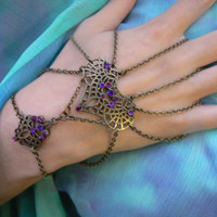 Morroccan  slave bracelet  spider chain design Indie Moroccan belly dancer Tribal fusion goddess gothic gypsy style