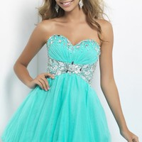Strapless Poly Dress