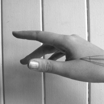 paper airplane temporary tattoo by pepperink on Etsy