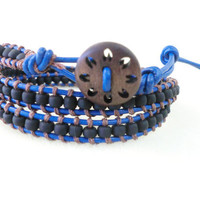 UNISEX multi wrap leather bracelet