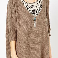 Free People Cozy Cat Knitted Jumper at asos.com