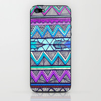 Two Feathers (color version 3) iPhone & iPod Skin by Lisa Argyropoulos