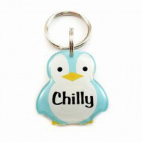 Blue Penguin Pet ID for Cats and Dogs - Happy Tags
